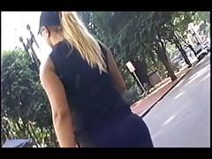 Blond brazilian big boobs tits latin