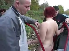 Swinger German Couple Carsex Alfresco - Part.2