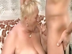 Fat blond granny fucked