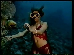 Vintage soft erotica (underwater striptease)