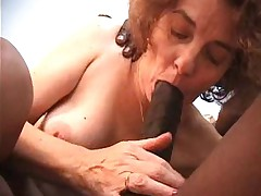 French granny love black cock