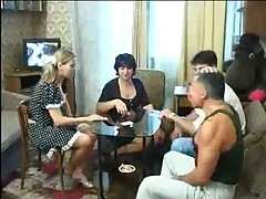 Russian Old And Youthful Couples Swinger Game