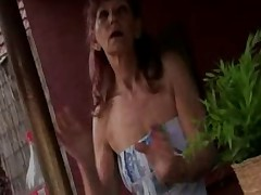Skinny and Hairy Granny Fuck