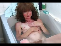 Hairy Mature in the Bath
