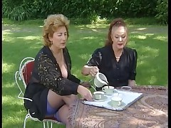 French Matures Outdoorparty