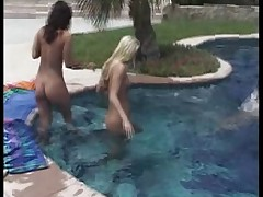 Barely Legal-pool lesbian orgy