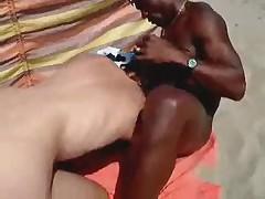 Mom fucking on the beach