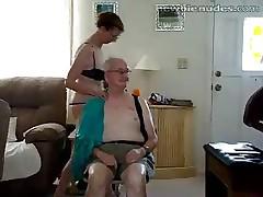 Old granny stripts