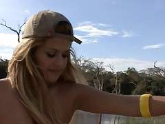 Talita Brandao Brazilian Whore Fucking on the Lake. Anal