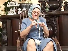 Granny Knitting and getting Fucked Hard
