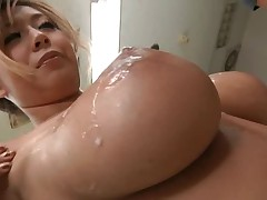 Busty doctor likes receiving many cumshots on her tits