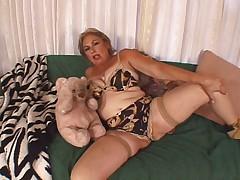 Granny enjoys a big fat cock