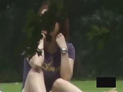 Horror be proper of the Asian girls bending over