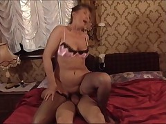 Hot granny with younger guy