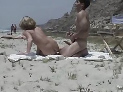 Amateur making out at a nude margin