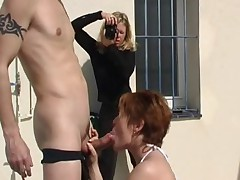 French red head treesomes anal