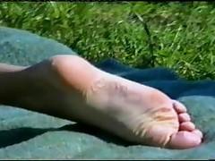 Sexy girlfriend foot