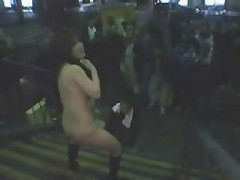 Naked Street Girl Pleasures Herself in Public by snahbrandy