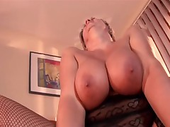 Greater Breasted Granny in Fishnets Fucks