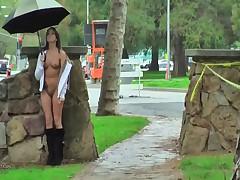 A rainy day flashing