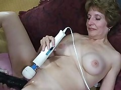 Granny Amy Dildo fun