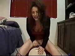 Having anal pleasure on a sybian