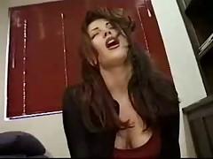 Having anal pleasure on a sybian