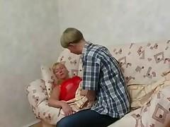 Boy Wakes Granny for a Fuck