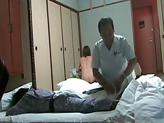 Naughty Japanese Wife Flashes Masseur