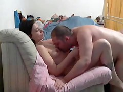 French swingers in action at home
