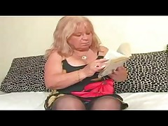 Chubby Granny in Stockings Fucks