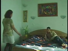 Blowjob Granny in Stockings Gets the Crony