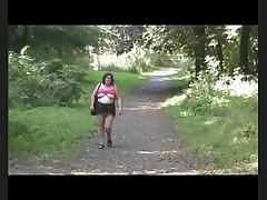 Dawn's Sexy Walk in the Park