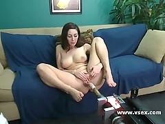 Busty Angelica Saige webcam fucking machine