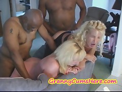 2 Grannies Fucked in ASS and a HAND JOB