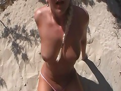 Blonde bitch got nailed on Ibiza