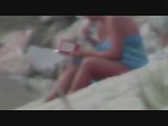 Beach bigboobs show