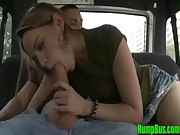 Blonde Amateur Girl Shows off her Cock Sucking Skills on Hump Bus - HumpBus.com