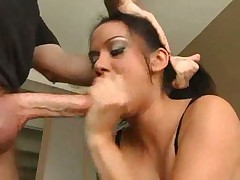 Deepthroat girl loves the big cock