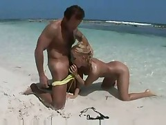 Hardcore beach fucking with a tasty blonde