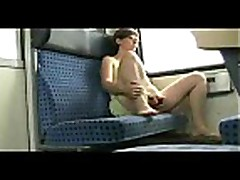 she has pleasure at the train-traveling