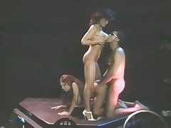 Delicious dancing girls get fucked by a fat dick