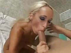 Bimbo pornstar Lichelle Marie fucked in bathroom
