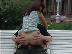 Amateur couple fucked in public in St Petersburg