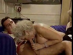 Retro granny with big floppy tits