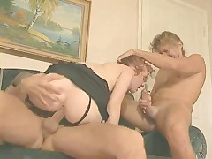 Skinny Swedish girl gets fucked by two lucky men