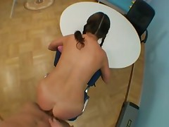 Ass banging teenager in pigtails