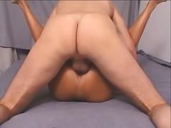 Fabulous body on a girl riding hard dick