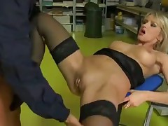 Mega hot Euro girl fucked up the butt