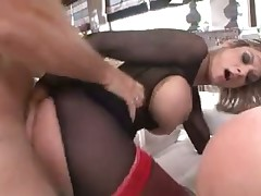 Three anal whores nailed by his big cock